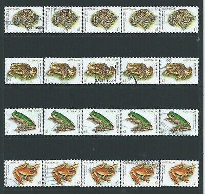 Australia -  5 Sets  2018 Frogs Commemorative Stamps Used