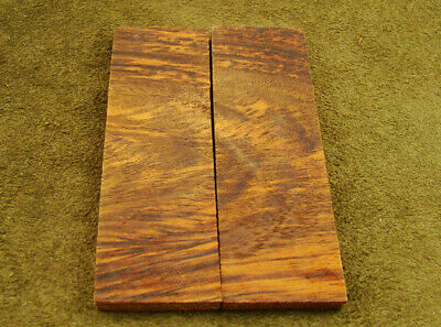 "5"" Pair of Burl Rose Wood Scales Knife Handle Making Blank Bush Crafts 600-217"