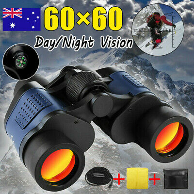 60x60 HD Hunting Binoculars 5-3000M Waterproof Day/Night Telescopes Coordinates