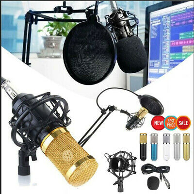 4in1 Condenser Microphone BM-900 Dynamic Cardioid Vocal Mic +Shock Mount Stand