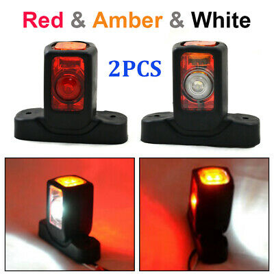 4 LED Red White Amber Side Marker Lights Outline Lamp Car Truck Trailer Van 12V