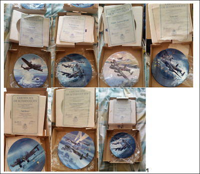 """7 Royal Worcester The Dambusters 7.5"""" Plates"""