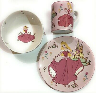 DISNEY PRINCESS by ROYAL DOULTON - SET PAPPA 3 PEZZI AURORA