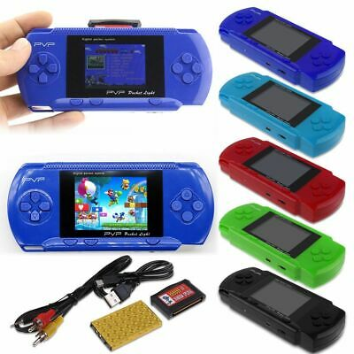 Portable PVP3000 Retro Handheld Game Console Plants Zombies Mario + Game Card UK