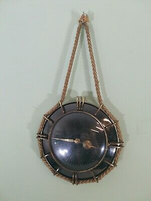 Vintage Art Deco Marine Clock Brass / Copper Glass  Modern Workings
