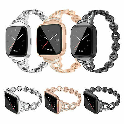 AU Stainless Steel Band Replacement luxury Bracelet Strap For Fitbit Versa Lite