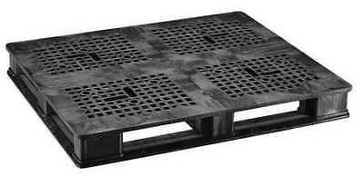 ZORO SELECT 40X48 RCKR BLK Pallet,5,000 lb.,48 In. L,40 In. W,Black