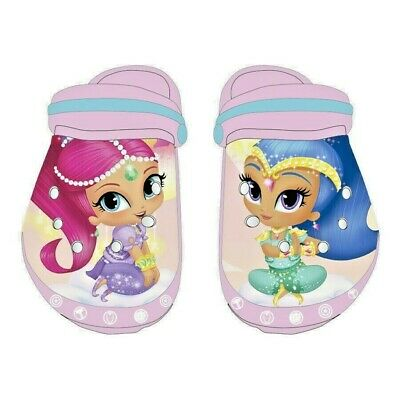 Girls Kids Shimmer and Shine Character Beach Clogs Beach Shoes