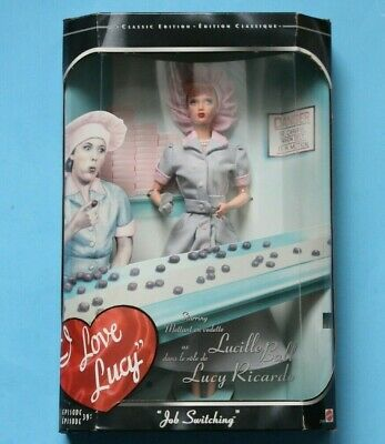 I Love Lucy Barbie Doll Episode 39 Job Switching 1998 Mattel 21268 New