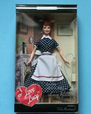 I Love Lucy Barbie Doll Episode 45 Lucy's Sales Resistance 2004 Mattel B3451 New