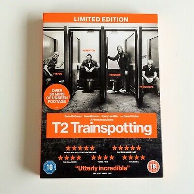 T2 Trainspotting - Limited Edition (DVD, 2017) With Slipcase. New & Sealed