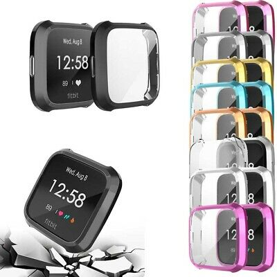 Fitbit Versa Lite Full Protective Case Cover Plating TPU Screen Protector Case