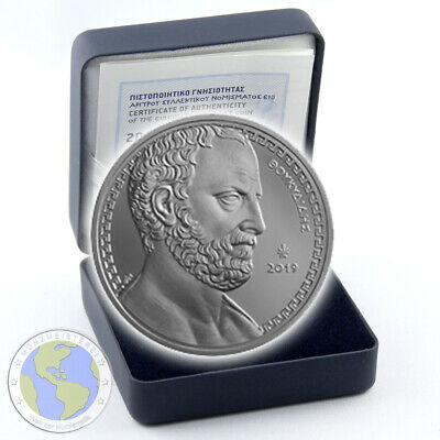 "10 Euro GRIECHENLAND 2019 "" Thukydides "" Silber PP / Proof im Etui & Zertifikat"