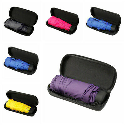 Mini Compact Umbrella Waterproof Windproof Travel Portable with Case Healthy