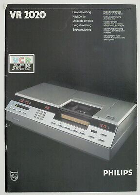 Philips VR2020 / VR 2020 Video 2000 Original Manual/Use Instructions