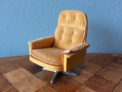 Sessel Drehsessel Lundby 1:18 1978 Puppenstube Puppenhaus dollhouse swivel chair