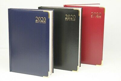 2020 A5 OR A4 DAY A PAGE PADDED DIARY Reduced price due to minor cover damage.