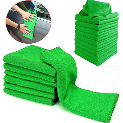 10x Car Soft Microfiber Wash Cleaning Polish Towel Cloth Duster Household Supply