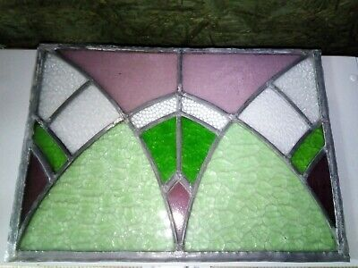 Reclaimed Vintage Stained Glass Window Panel,