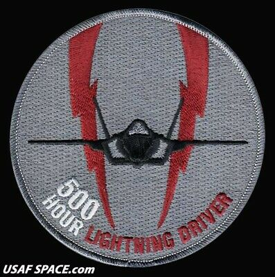 USAF 944th OPERATIONS GROUP -DETACHMENT 2 -F-35 LIGHTNING DRIVER-500 HOURS PATCH