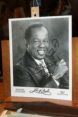 Vintage Autograph Signed Photo Lou Rawls Inscribed 8x10 Glossy Brokaw Company
