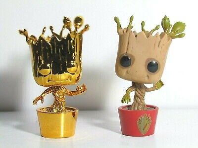 Guardians Of The Galaxy Groot Funko Pop Lot Dancing With Shield Invisible Hand