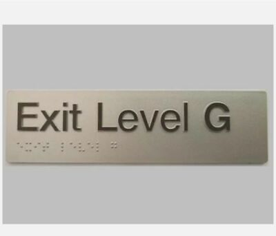 Braille Signs -  BRAILLE EXIT SIGN GROUND LEVEL EG-SILVER