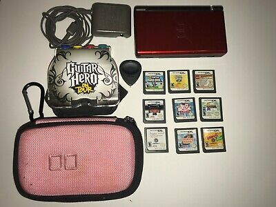 Nintendo DS Lite Bundle with 9 Games + Charger + Carrying Case