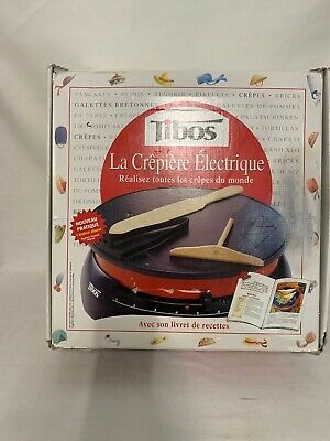 Tibos Cebpc2 13-Inch Round Electric Single Crepe Maker, 1300-Watts 230/240V