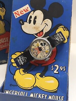 Vintage 1930s Ingersoll Mickey Mouse Watch Disney Original Boxed