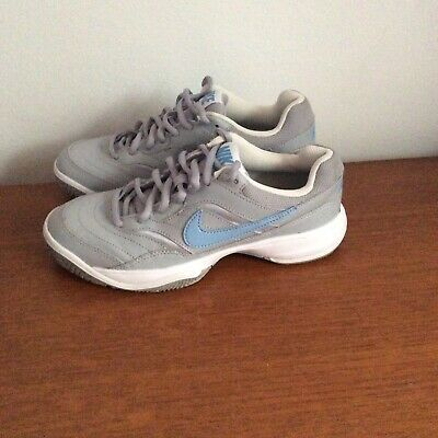 Nike Court Lite Grey Ladies / Girls Trainers Size Uk 3.5