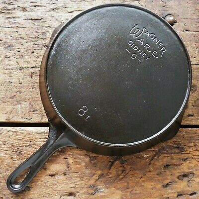 Vintage WAGNER WARE Cast Iron SKILLET Frying Pan # 8 SIDNEY - O - Ironspoon