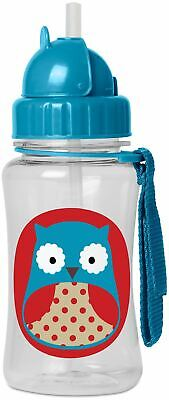 Skip Hop ZOO STRAW BOTTLE - OWL Kids Straw Pop-Up Drinking Bottle BNIP