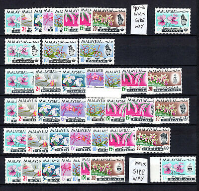 Malaysia 1965 Orchid Flowers 5 X States Complete Set Of Mnh Stamps Un/Mm