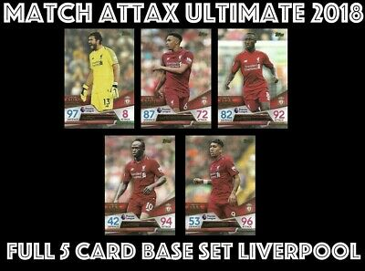 Match Attax Ultimate 2018/19 Full 5 Card Team Set Liverpool