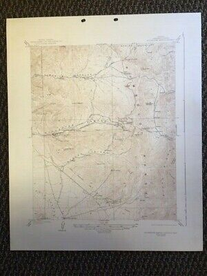 Vintage USGS Rochester Mining District Nevada 1928 Topographic Map 1940