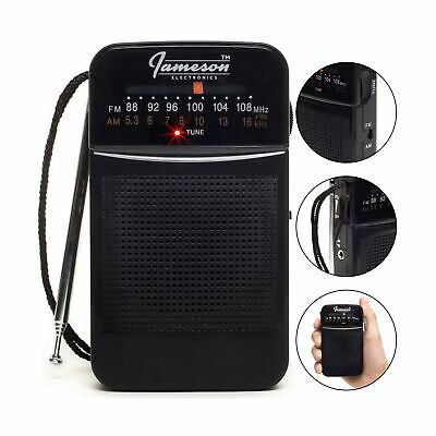 AM // FM Portable Pocket Radio with Best Reception - Small Battery Operated T...