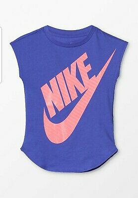 Nike T Shirt Top Girls Junior Infants Kids Sport Casual Age UK 2 - 7 Years