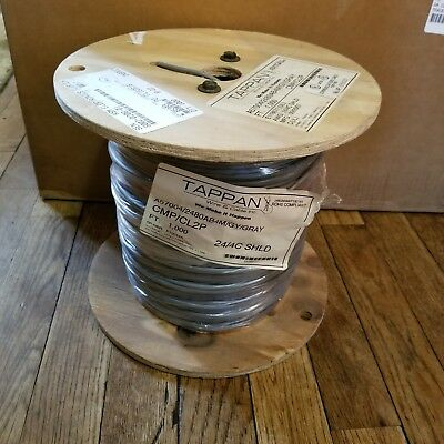 24 AWG 4C STRANDED SHIELDED PLENUM WIRE & CABLE 22/4 1000 Feet TAPPAN
