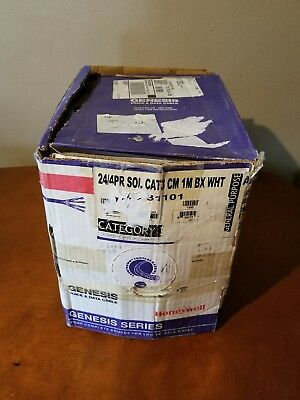 Honeywell Genesis Cat3 cable, Riser rated, 1000ft, Reel-in-a-Box 24/4PR White
