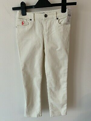 Girls Polo Ralph Lauren Age 7 Beige Cord Trousers New With Tags