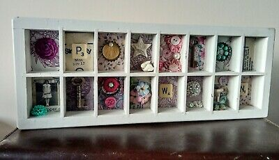 Upcycled tray, curiosities, art, wall decor, assemblage, miniatures, home decor