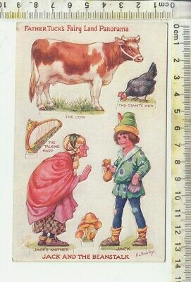 "Bowley TUCK ""OILETTE"" No. 3386 - FAIRY LAND PANORAMA - ""JACK AND THE BEANSTALK"""