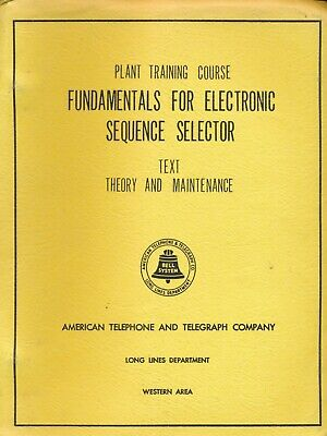 Fundamentals For Electronic Sequence Selector • At&T Training Course • Vintage
