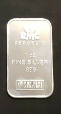 1oz Republic Metals Corporation (RMC) Bar .999 Pure Silver [No Reserve}