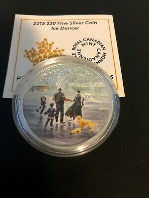 2015 Canada $20 .999 Silver Coin Ice Dancer