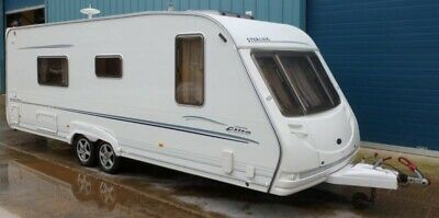Sterling Elite Searcher Twin Axle 4 berth caravan Fixed bed L shape Lounge