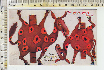 "TUCK ""OILETTE"" No. 3397 ""ZOO-ZOO Series"" - ""The Snorzah  Le Kanoskah""  Cut Out"
