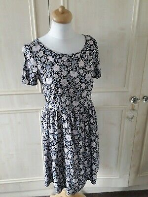 Pretty *M&S Collection* Blue Pink Floral Dress Size 10