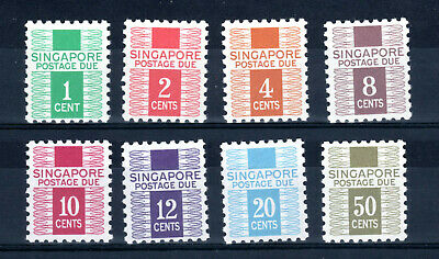 Singapore Straits Settlements 1968 Postage Due Complete Set Of Mnh Stamps Un/Mm